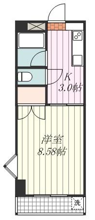ACTY小坂201号の間取り図