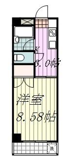 ACTY小坂406号の間取り図